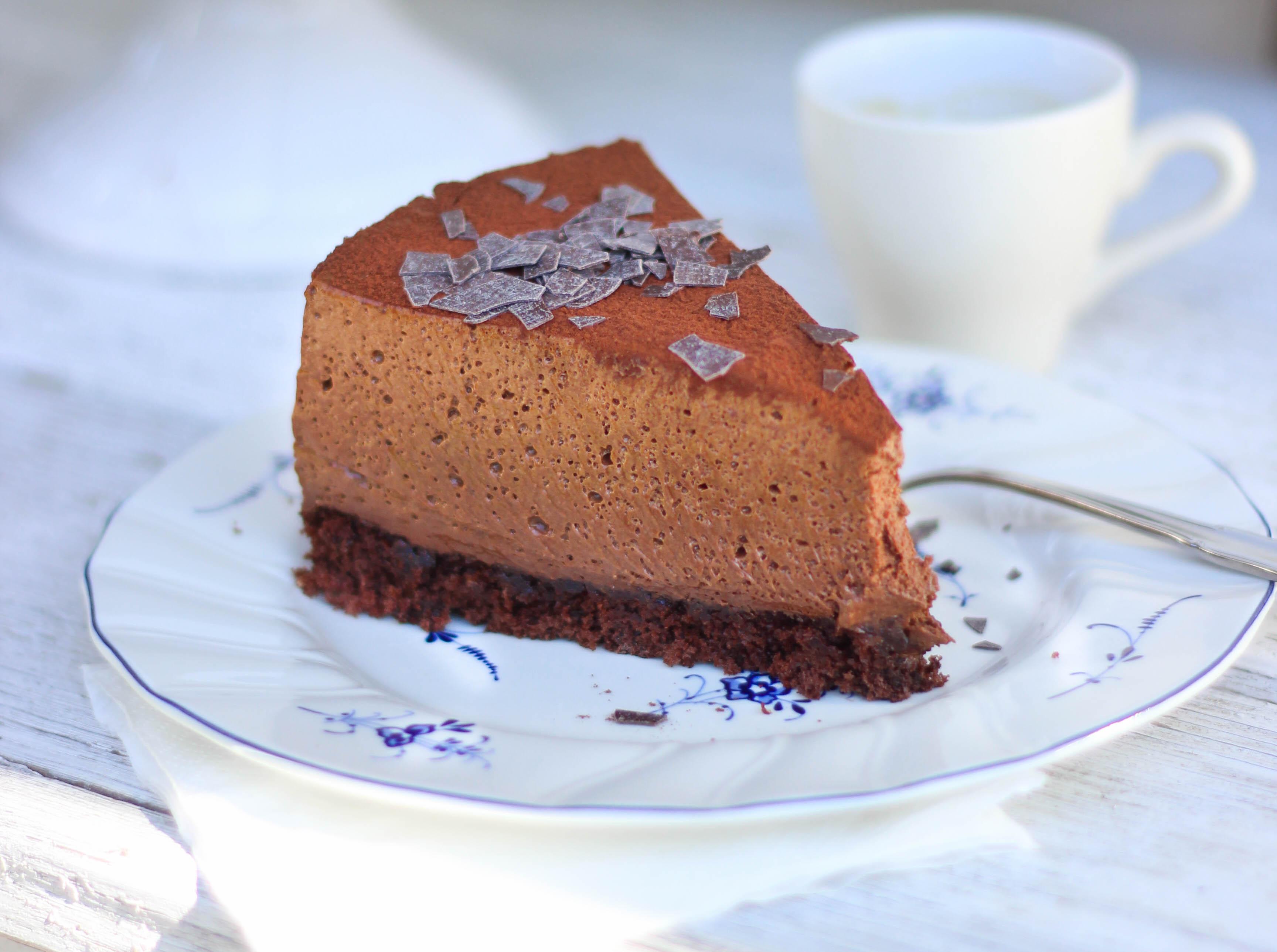 Mousse au chocolate kuchen rezept