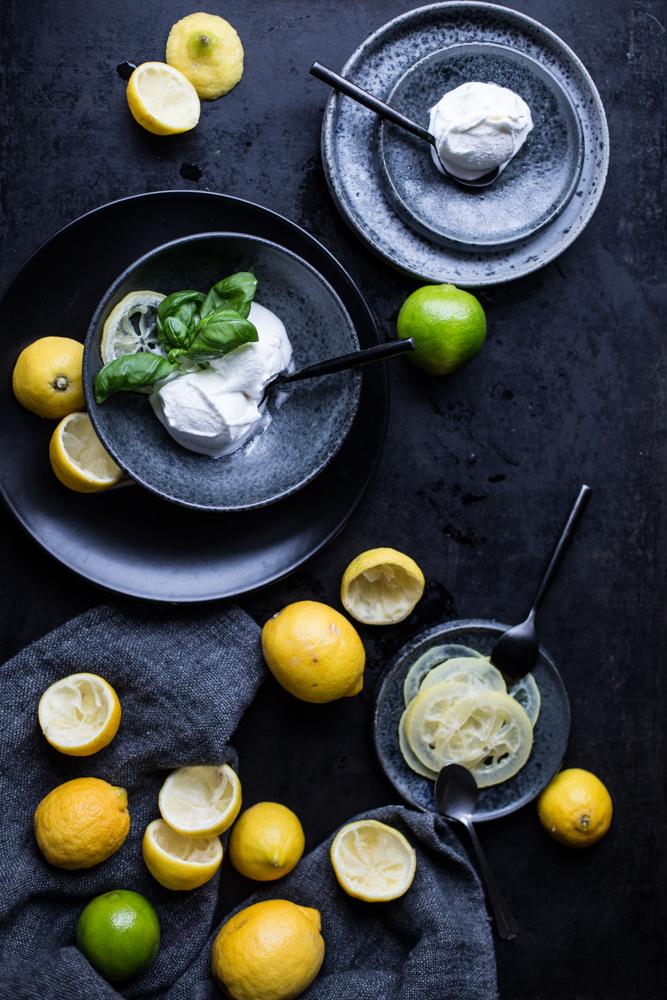 Zitronensorbet